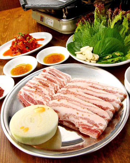 韓国食堂 チャン4岩手やまと豚のサムギョプサルA
