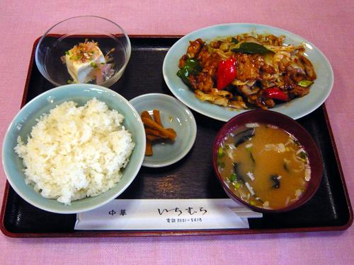 中華いちむら4肉キャベツ炒め定食